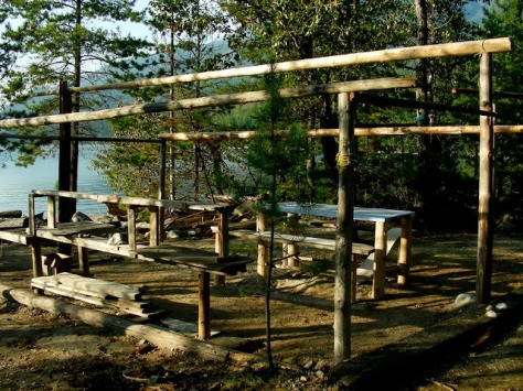 One of the long-standing campsite frames.